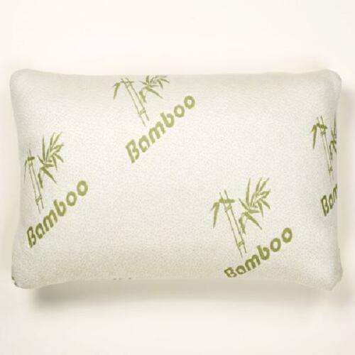 Bamboo Memory Foam Pillow Stay Cool Removable Cover with Zipper Hotel Quality Hy
