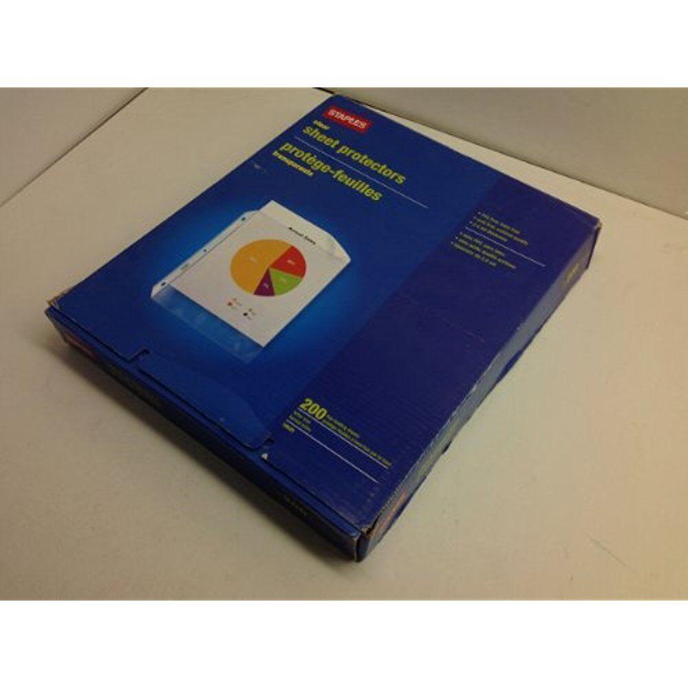 Staples Standard Sheet Protectors 200//Pack 10525