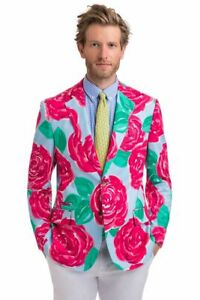 Vineyard Vines 38r Kentucky Derby Run For The Roses Jacket