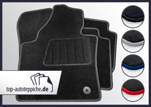 Peugeot 106 96-9//00 100/% passform Fussmatten Autoteppiche Schw Silber Rot Blau