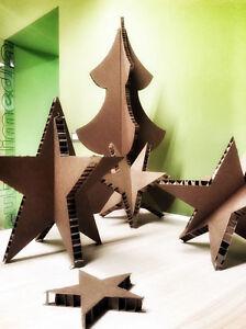 Stella Di Natale Tridimensionale.Dettagli Su Albero Di Natale H150cm 10 Stelle 3d In Cartone Design Nidoboard Casa Vetrine