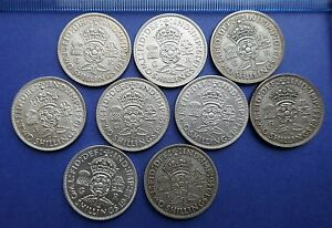 George-VI-Florins-0-500-Silver-or-Cu-Ni-1937-to-1951-Choose-your-date