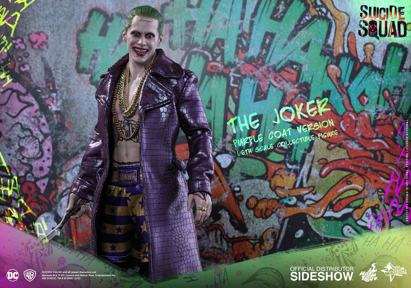 Hot Toys - Suicide Squad JaROT Leto as The Joker lila Coat 12