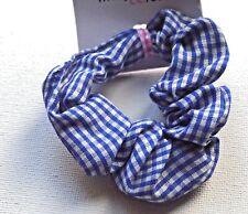 School Hair Child/'s Gingham Checked Scrunchie Fabric Cute Pretty Scrunchies
