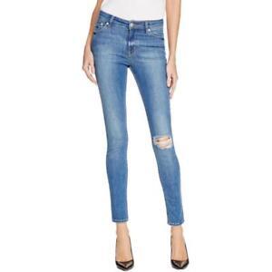 af0db3d5e RES DENIM $169 Womens KITTY BLUE Mid-Rise SKINNY JEANS SZ 28 NWT | eBay