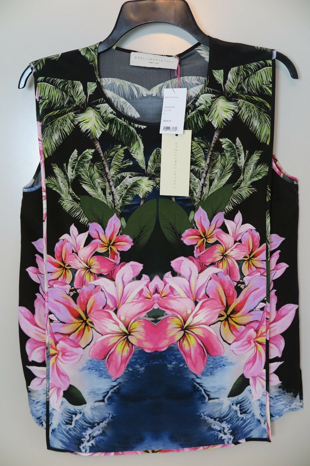 NWT Stella McCartney Tropical Flora Sleeveless Blouse Größe 40 MSRP 825