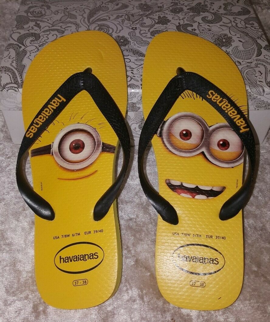 Havaianas flip flops Minions VGC EU 39/40 Size 5