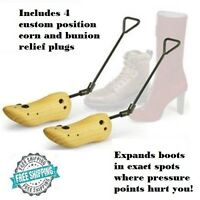 Boot Stretcher Men Mens Wood Shaper Western Cowboy Adjustable Bunions Corns
