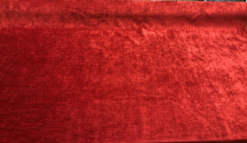 Evans Chili Burgundy Chenille Upholstery Fabric By the yard