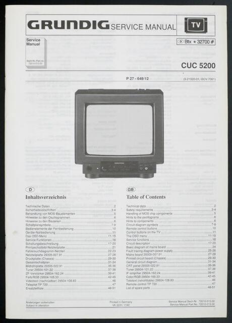 Grundig Cuc Diagram  Parts