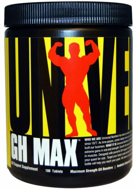 NEW GH MAX GH SUPPORT SUPPLEMENT UNIVERSAL NUTRITION DIETARY ANABOLIC 180 TABLET