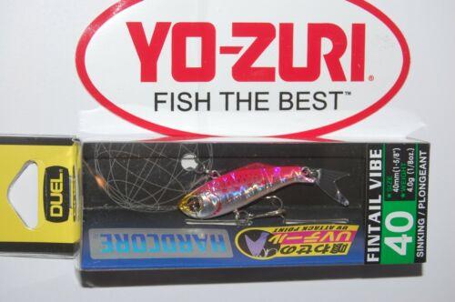 "yo zuri duel hardcore fintail vibe 40  1 5//8/"" 1//8oz holo pink f1080-whpi"