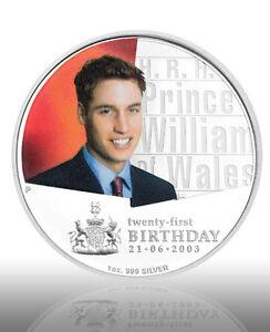 2003-Australia-HRH-Prince-William-21st-B-039-day-1oz-Silver-Proof-Coloured-Coin