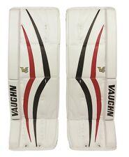 "New Vaughn 1100i V6 Int ice hockey goal leg pads 32""+2 Black/Red Velocity goalie"