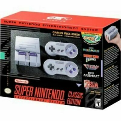 Super Nintendo Entertainment System SNES Classic Edition w Extension Cords NEW!