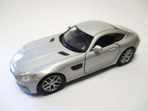 Mercedes AMG GT en plata maqueta de coche metal 1:34 Diecast Welly Nex Model