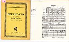 L.Van Beethoven  Op 59 n°3 String Quartet partition de poche