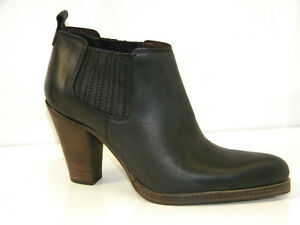 Chaussures Texan 37 in Femme véritable Noir Cuir Bottines Italy 100 Made UUq4wS