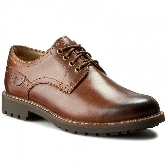 Da Uomo CLARKS ** MONTACUTE HALL Pelle ** Scuro Marrone in Pelle HALL ** Uk 9.5/US 10.5 G 327094