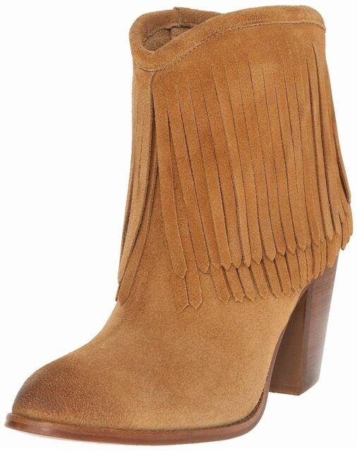 3691d2f9485 Frye 160301 Women's Ilana Fringe Short Western Boots Sand Leather Sz. 6.5 M