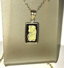 PURE 9999 GOLD ~1~GRAM ~ LADY FORTUNA ~ PAMP SUISSE ~14-KT GOLD PENDANT ~ $98.88
