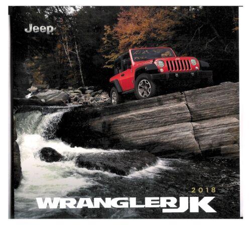 2018 18/' Jeep Wrangler 24-page JK Original Car Sales Brochure Catalog RUBICON