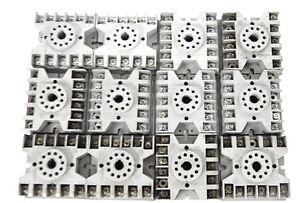 LOT OF 12 POTTER & BRUMFIELD 27E123 RELAY SOCKETS 10A, 300V