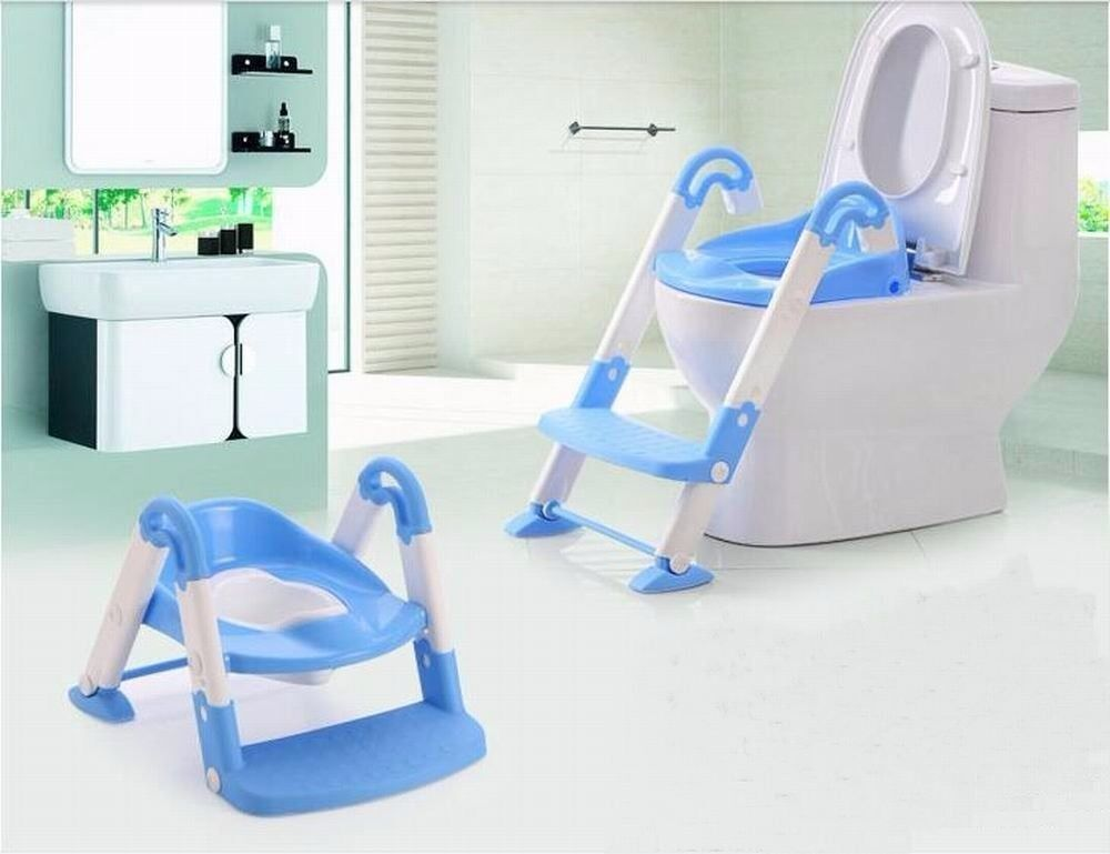 Blue 3 In 1 Baby Potty Training Ladder Toilet Trainer
