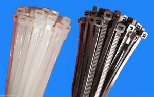 EU Ware Industriequalität Profi Kabelbinder 4,8 x 250 mm weiß 1000 Stück