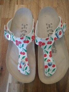 Papillio-Birkenstock-cherry-thong-gizeh-Sandals-Women-039-s-Size-EU-37-L6-Narrow