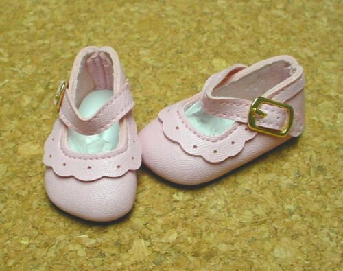 Doll Shoes Bitty Bethany 47mm LT PINK Classic Ankle Straps