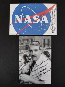 "Hugh Harris ""Voice of NASA Shuttle Launch Countdown"" 2 x original Autogramme"