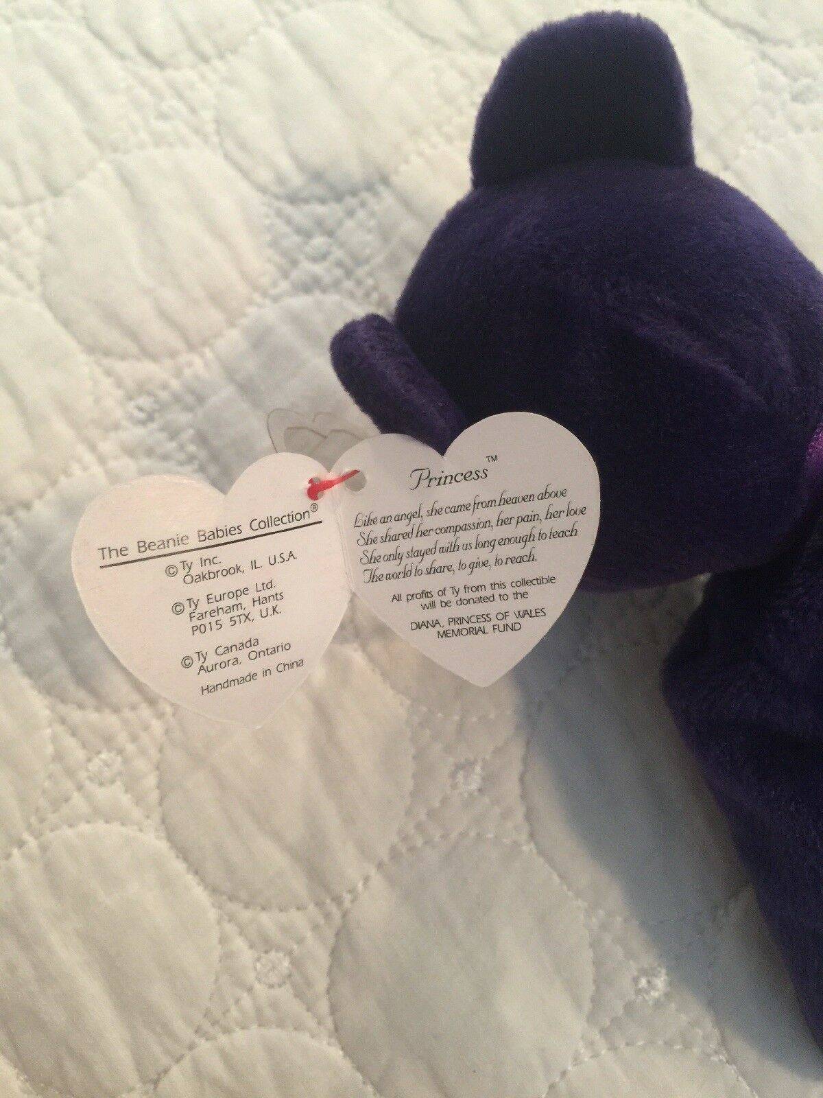 Ty Ty Ty Princess From the Beanie Babies Collection, 1997, Most Rare - Collector 4af941