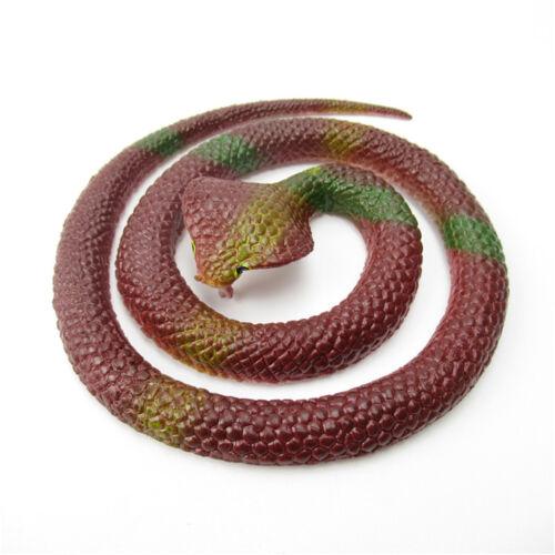 Caoutchouc Serpent Jouets FAUX Serpents Sac Fête Remplisseur Halloween Prop Trick Blague Soft