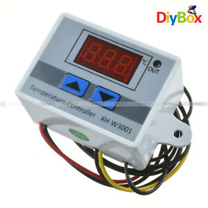 24V Digital LED Temperature Controller 10A Thermostat Control Switch Probe
