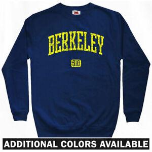 Berkeley 510 Sweatshirt Crewneck California East Bay Area Alameda  Men S-3XL
