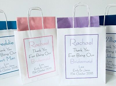 complete with tissue paper PERSONALISED WEDDING CHRISTENING PAPER GIFT BAG