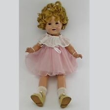 "SHIRLEY TEMPLE 20"" COMPOSITION DOLL Vintage 1930's Toy COP IDEAL N&T Sleep Eyes"
