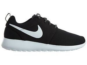 4f1e53a8af17f Nike Roshe One Womens 844994-002 Black White Mesh Running Shoes Wmns ...