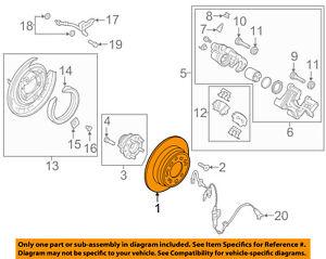 HYUNDAI OEM 11-15 Sonata Rear Brake-Rotor 584113Q000   eBay   Hyundai Brakes Diagram      eBay