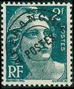 "Trempé France Stamp Timbre Preoblitere N° 94 "" Type Marianne 2f Vert "" Neuf Xx Luxe"