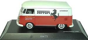 RARE-SCHUCO-VW-T1-VAN-FERRARI-ABARTH-AUTOMOBILES-1-43-NEW-1-OF-1000-SOLD-OUT