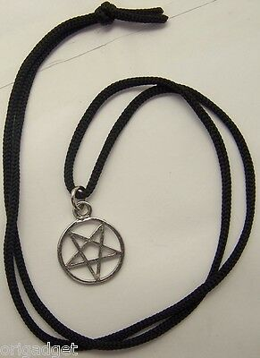 Collier Court Avec Pendentif MÉtal Pentacle Stella Satanica Petit D337 To Clear Out Annoyance And Quench Thirst Bijoux Fantaisie