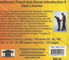 Healthcare Fraud and Abuse Introduction, 5 Users by Daniel Farb (CD-ROM, 2005)