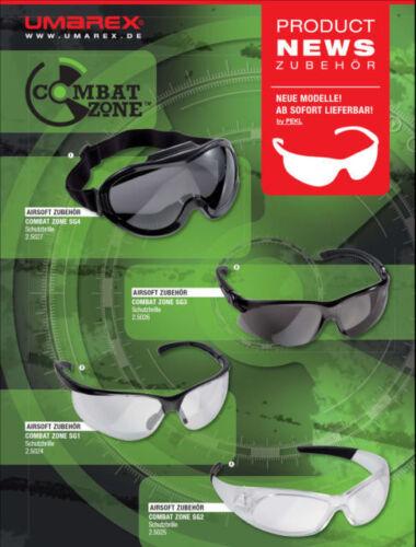 Airsoft Softair Umarex Schutzbrille Combat Zone SG1 SG2 SG3 SG4 Schutz Brille f