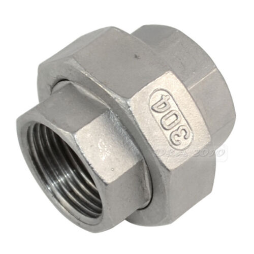 """1/"""" Malleable Straight Union Coulping Pipe Fitting Stainless Steel SS304 F//F"""