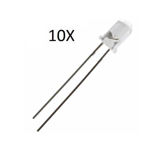 10X LED 5mm EMETTITORE INFRAROSSO 940 nM fotodiodo diodi IR Infrared emitter pc