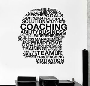 Image Is Loading Vinyl Wall Decal Words Coaching Skills Office Inspired