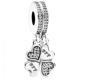 06ae17879 Image is loading 925-Sterling-silver-Authentic-Pandora-Best-Friends-Forever-