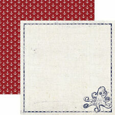 Paper House OCTOPUS 12x12 Dbl-Sided Scrapbooking (2pc) Paper P-2012